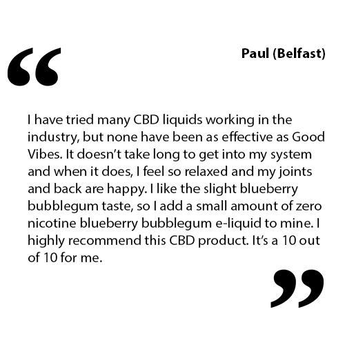 Good Vibes E-Liquid Customer Testimonial
