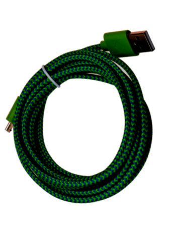 USB 2M GREEN/BLACK CABLE